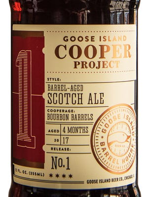 Cooper Project Scotch Ale, from Goose Island Beer Co. in Chicago, is 8.7% ABV.