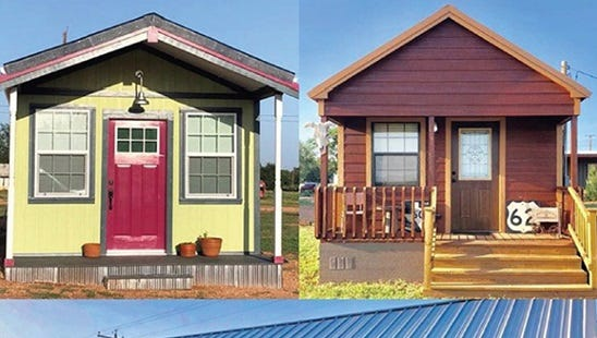Some of Spur's tiny homes will be on display on Saturday.