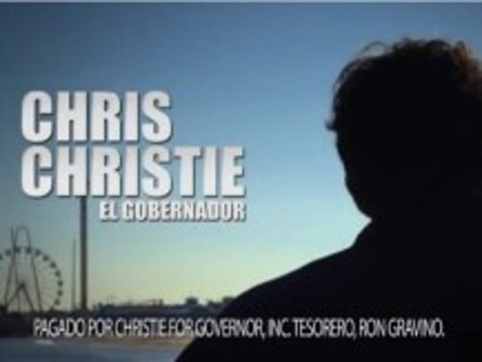 Gov. Chris Christie's trade mission to Mexico continues an emphasis on Latino constituents that was evident in last year's campaign in multiple Spanish-language TV ads. (Screenshot from Christie campaign ad.)