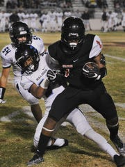 Rio Mesa's Dominic Mclaughlin tries to shake free of
