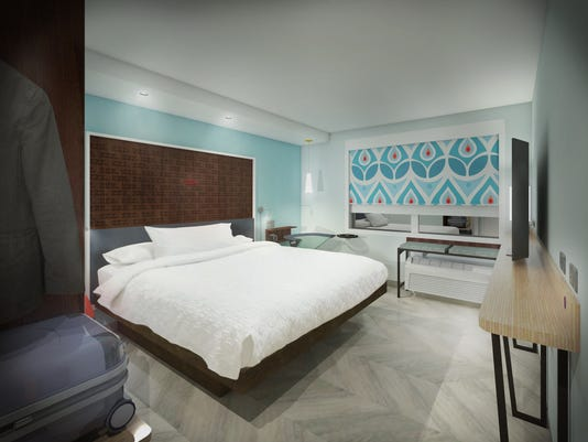 An Artist S Rendering Of A Guest Room At Tru By Hilton New Midscale Hotel Brand That Will Debut The End 2016 Photo