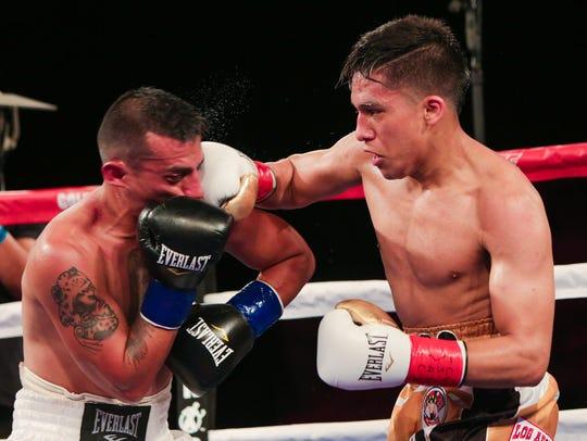Joshua Franco, right, will face Oscar Negrete in a rematch on Thursdaynight in Indio.