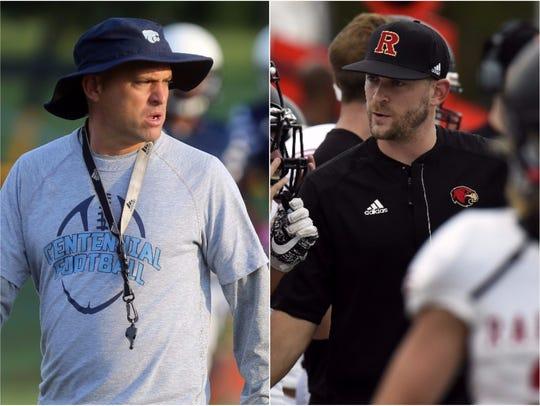 Second-year Centennial coach Matt Kriesky (left) and