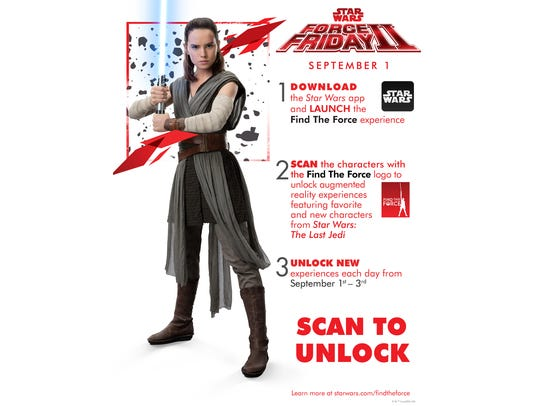 Scan the 'Find the Force' logo to unlock AR versions