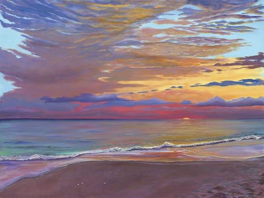 Juno Sunrise, a work of local Jupiter painter Tina Nolan Caruso