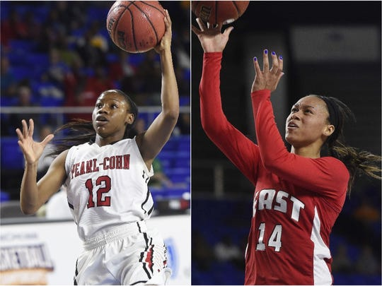 Pearl-Cohn's Shawnta Shaw (left) and East Nashville's