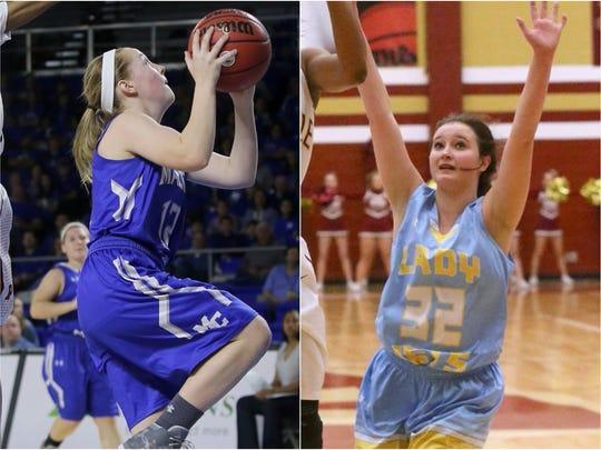 Macon County's Jamie Ashburn (left) and Cumberland