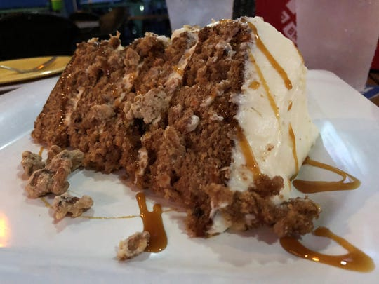The Island Gypsy house specialty – carrot cake.