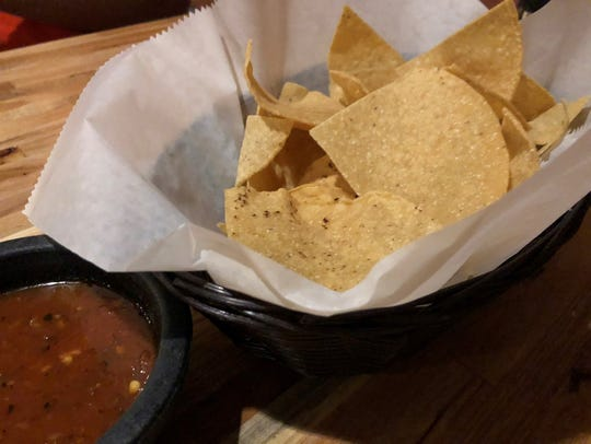 The chips and salsa at ZaZa kitchen.