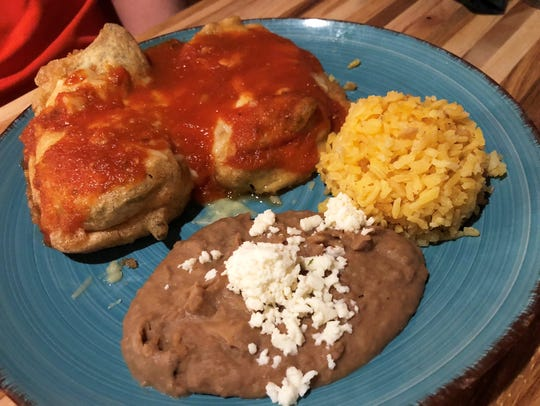 Chiles rellenos at ZaZa Kitchen.