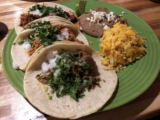 The taco dinner plate at ZaZa kitchen.