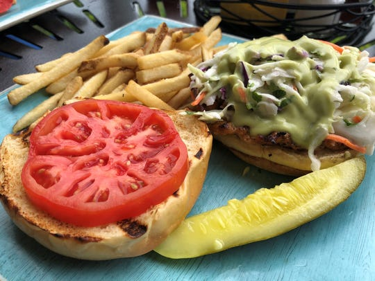 The grilled chicken sandwich at Stilts Bar & Grill,