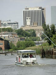 Grab your family and take a cruise aboard the water taxi. .