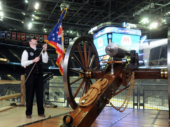 Local company in charge of Columbus Blue Jackets cannon