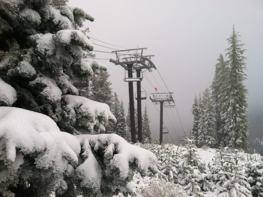 A look at the snow at Northstar on Saturday