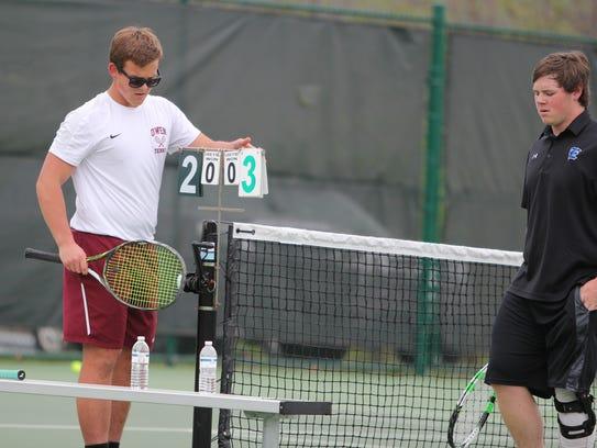Joseph Frith moves into the lead over an Enka tennis