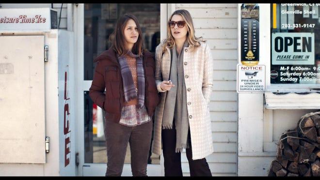 "Lola Kirke, left, and Greta Gerwig are friends in ""Mistress America."""