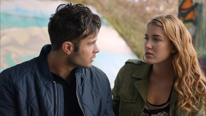 Cody Longo (Josh) left and Nathalia Ramos (Chloe) in the soon to be released film Wildflower from writer and director Nicholas DiBella. Wildflowers was filmed in the Rochester area.
