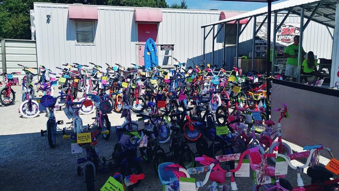 Plenty of bikes will be given away Saturday night at 34 Raceway during the High 5 for Kids Night.