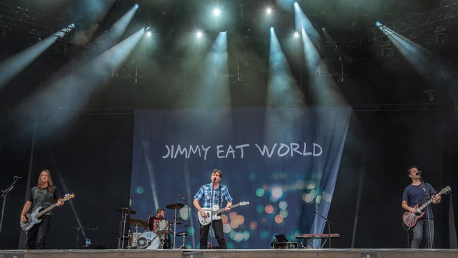 Jimmy Eat World performing at the Firefly Festival, Dover, Del., June 2018.