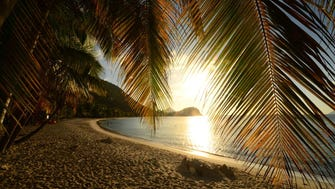 British Virgin Islands: Sunsets are spellbinding at Smuggler's Cove.