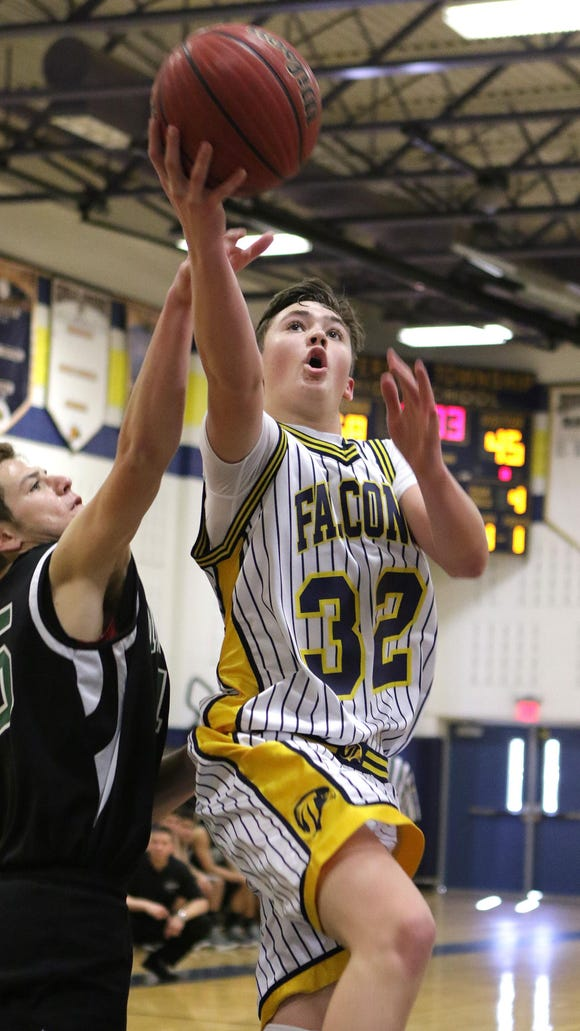 Jefferson's Steve Breeman drives to the basket against