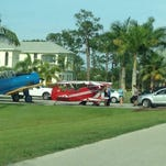 A plane crashed at the private Pine Shadows Air Park in North Fort Myers Sunday, damaging the plane but leaving the pilot unhurt.
