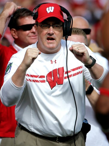 Wisconsin football coach Paul Chryst guided the Badgers