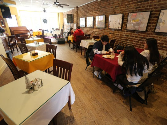 The dining area of the BeanRunner Cafe in Peekskill,