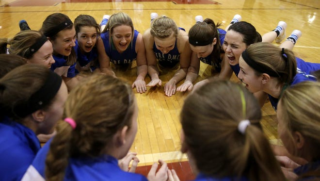 The Green Bay Notre Dame girls basketball team have had six different players lead the team in scoring during a game this season. The Tritons will face New Berlin Eisenhower in a WIAA Division 2 state semifinal game on Friday at the Resch Center in Ashwaubenon.