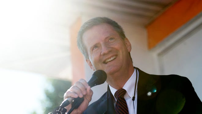 Knox County Mayor Tim Burchett announces his candidacy for Congress on Saturday, August 5, 2017. Burchett is running for the 2nd Congressional District of Tennessee in 2018.