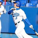 MTSU's Riley Delgado (8) leads the team in hitting early this season.