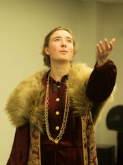 King Henry, played by Lauren Palmer of Williston, reminisces over his rise to the throne while chastising his unruly son.