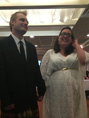 Colin and Katie McKinnon at their wedding reception.