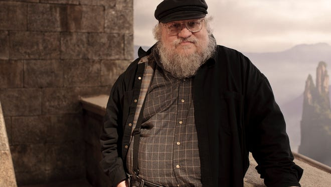 George R.R. Martin on the set of the'Game of Thrones' show.