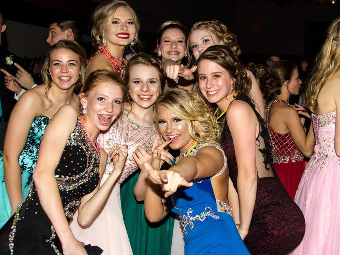 prom goers dance and have a good time during the Prom