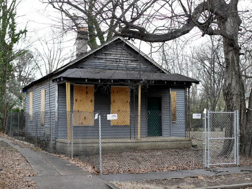 The abandoned childhood home of singer Aretha Franklin