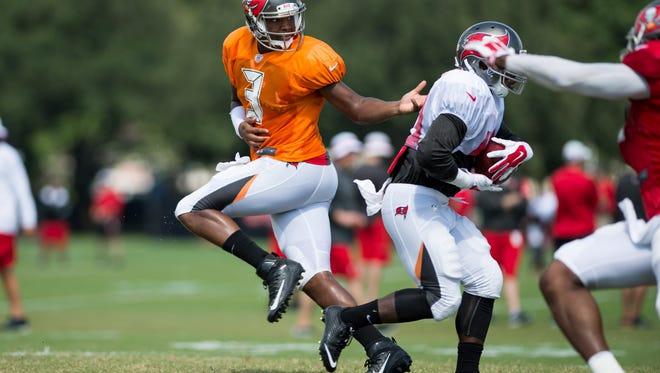 Jameis Winston practices in anticipation of his preseason NFL debut against Minnesota Saturday.