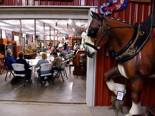 In this March 2, 2018, photo, a Budweiser Clydesdale