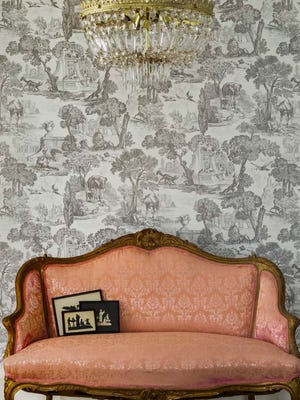 Versailles wall covering by Cole & Son.