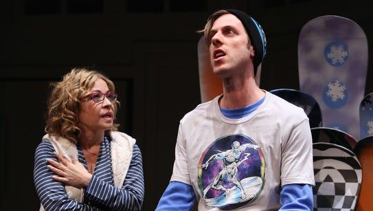 Jennifer Cody and Scott Rad Brown in Women in Jeopardy!
