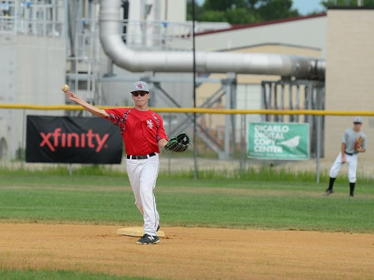 A West Salisbury Little League player throws the ball during practice.