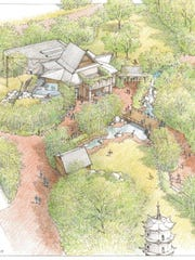 This drawing shows an overview of Tiger Forest, now being built at Zoo Knoxville and set to open next April.