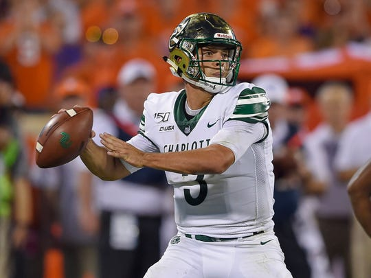 Charlotte quarterback Chris Reynolds accounted for 432 yards of total offense, a program record, and four touchdowns against North Texas last week.
