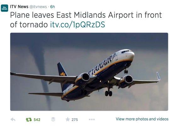 ITV news-plane-tornado