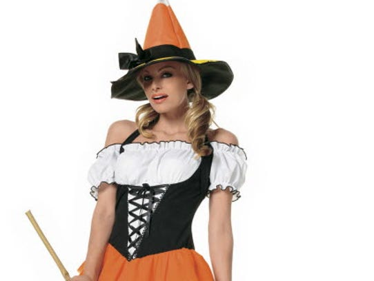 An adult witch costume. Not so scary.