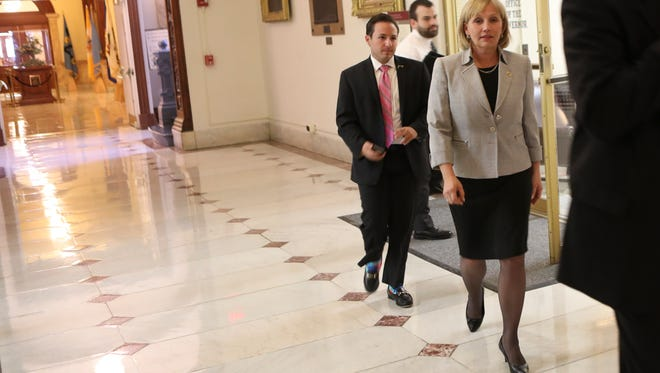 Lt. Gov. Kim Guadagno has distanced herself from the governor.