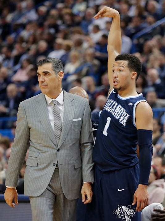 USP NCAA BASKETBALL: VILLANOVA AT CONNECTICUT S BKC CON VIL USA CT