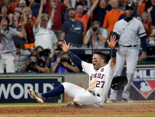 USP MLB: ALCS-NEW YORK YANKEES AT HOUSTON ASTROS S BBA HOU NYY USA TX