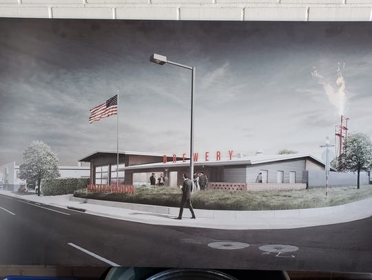 A rendering of Walter Station Brewery, opening in Phoenix